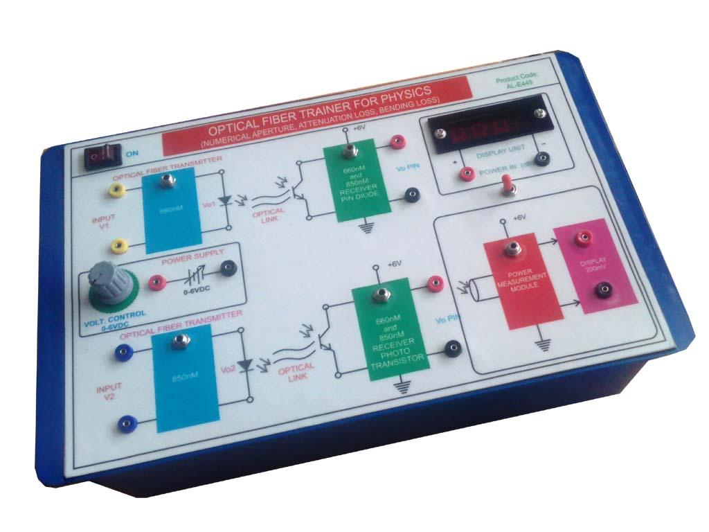 AL-E160D FIBER OPTIC TRAINER (NUMERICAL APERTURE, ATTENUATION LOSS AND BENDING LOSS)