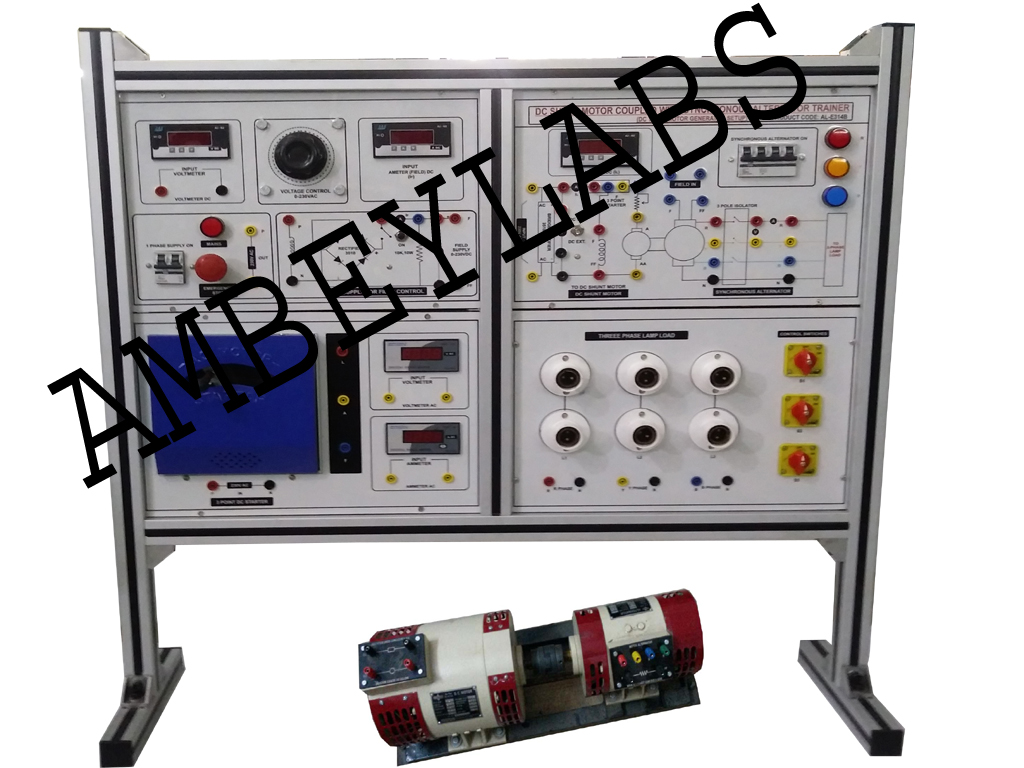 Science Educational Equipments Scientific Laboratory Instruments 8 Wire Dc Shunt Motor Wiring Diagram Al E314b Coupled With Ac Synchronous Alternator