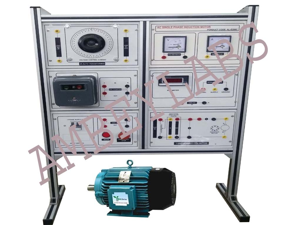 Science Educational Equipments Scientific Laboratory Instruments Single Phase Ac Motor Speed Control Circuit Al E298c Induction
