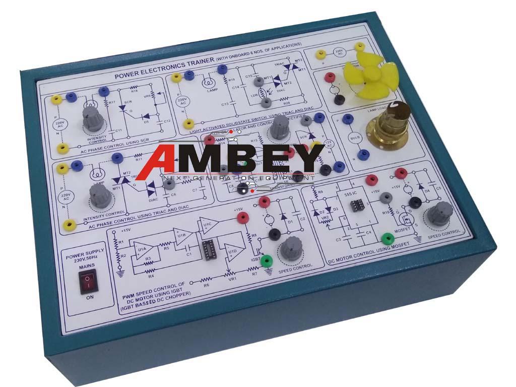 AL-E393D POWER ELECTRONICS TRAINER 6 APPL.