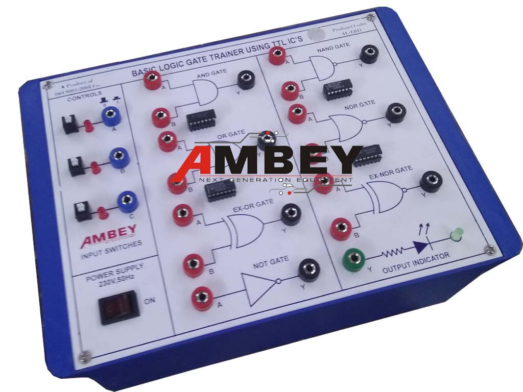 Product iD: AL-E007-LOGIC-GATE-TRAINER-USING-TTL-IC-214